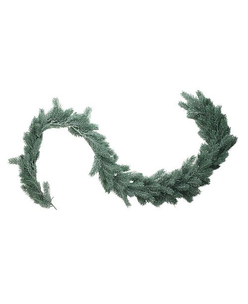 "Northlight 76"" Frosted and Dusted Artificial Green Pine Decorative Christmas Garland - Unlit"