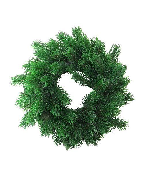 "Northlight 12"" Decorative Green Pine Artificial Christmas Wreath- Unlit"