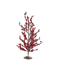 "23.5"" Festive Red Berries Artificial Decorative Christmas Tree"