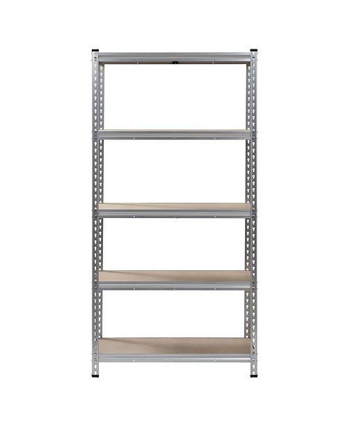 Edsal 5-Shelf Boltless Aluminum Shelving Unit