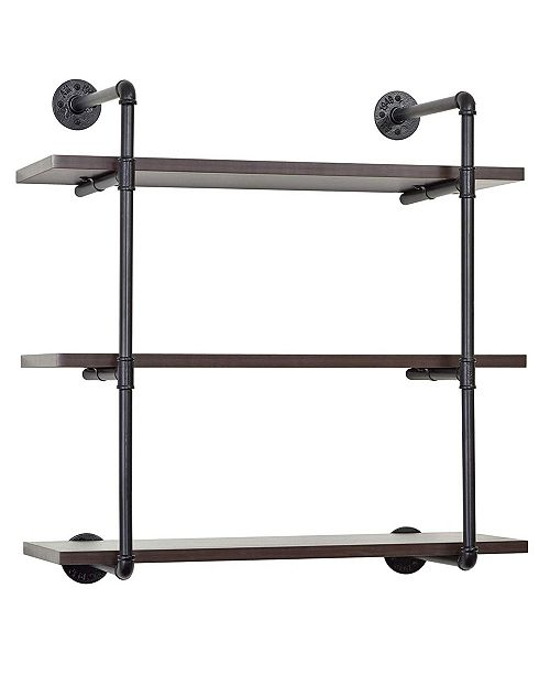 Edsal 3-Tiered Metal Pipe Wall Shelf