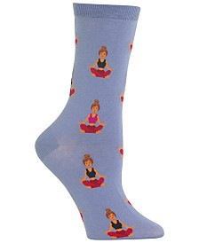 Hot Sox Women's Meditation Crew Socks