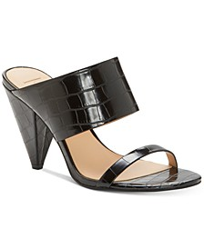 INC Women's Lovisha Double-Strap Slide Heels, Created for Macy's