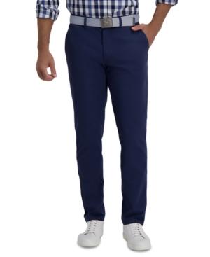 Men's Slim-Fit Motion Khaki Straight Flex Waistband Casual Pants