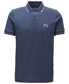 BOSS Men's Paul Curved Slim-Fit Polo Shirt