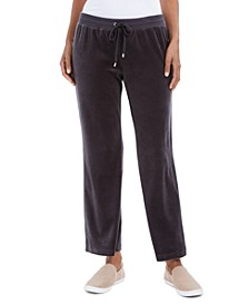 Petite Velour Pants, Created For Macy's