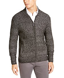 Men's Full-Zip Marled Sweater, Created For Macy's