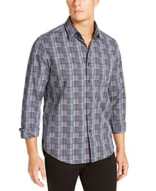 Men's Stretch Dobby Woven Shirt, Created For Macy's