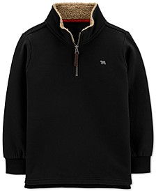 Little & Big Boys 1/2-Zip Pullover Sweatshirt With Faux-Shearling Trim