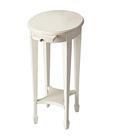 Arielle White Accent Table, Quick Ship