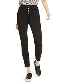 High-Rise Sailor Skinny Jeans
