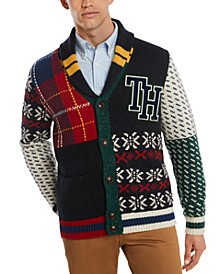 Men's Summit Multi-Pattern Shawl Collar Sweater