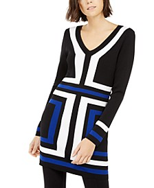 INC Colorblocked Tunic Sweater, Created for Macy's