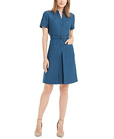Ridgecrest Belted Pleated Dress