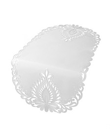 """Wilshire Embroidered Cutwork Table Runner, 16"""" x 54"""""""
