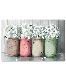 Mason Jar Muted Canvas Art Collection