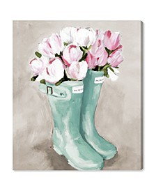 Tulips in Spring Boots Canvas Art Collection