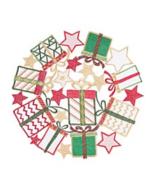 Holiday Gifts Round Placemat, Set of 6