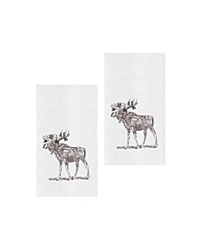 Holly Moose Kitchen Towel, Set of 2