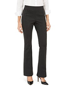 INC Seamed Ponte-Knit Bootcut Pants, Created For Macy's