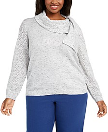 Plus Size Lake Geneva Scarf-Neck Sweater