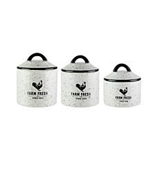 Farm Fresh Canisters, Set of 3