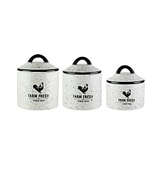Jay Imports Farm Fresh Canisters, Set of 3