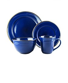 Jay Imports Lucienne Cobalt 16 Pc Dinnerware Set, Service for 4