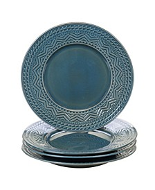 Aztec Teal 4-Pc. Dinner Plates