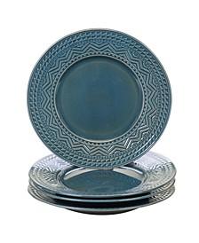 Aztec Teal 4-Pc. Dinner Plates