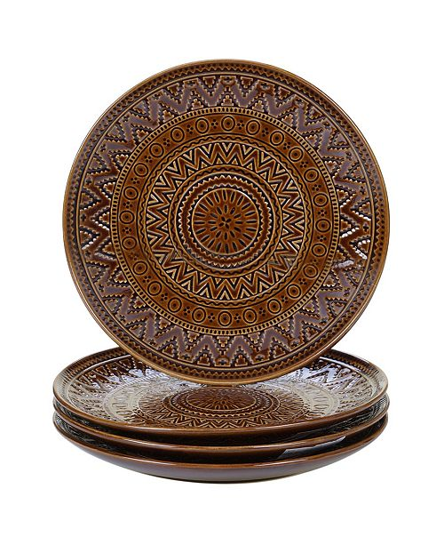 Certified International Aztec Brown 4-Pc. Salad Plates
