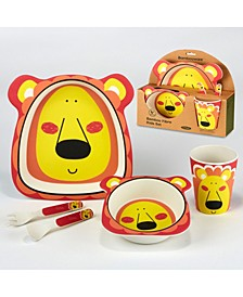 Lion Eco Friendly Bamboo Fiber 5-Pc. Kids Dinnerware Set