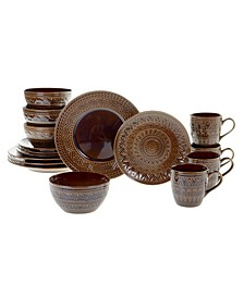 Aztec Brown 16pc Dinnerware Set