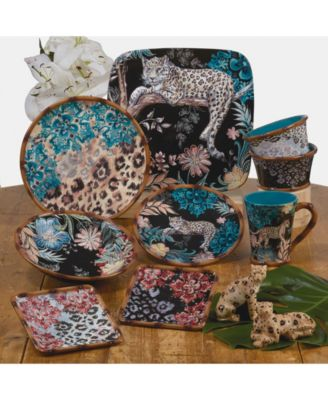 Exotic Jungle 4-Pc. Salad Plates