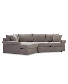Wedport 3-Pc. Fabric Modular Sectional Sofa with Cuddler, Created for Macy's