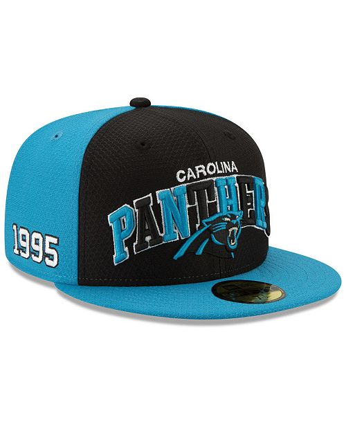 New Era Boys' Carolina Panthers On-Field Sideline Home 59FIFTY-FITTED Cap