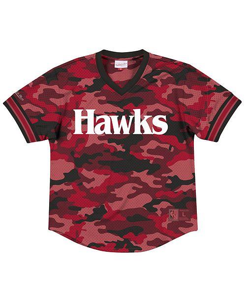 Mitchell & Ness Men's Atlanta Hawks Camo Mesh V-Neck Jersey Top