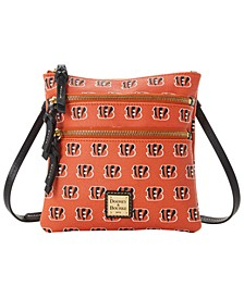 Cincinnati Bengals Saffiano Triple Zip Crossbody
