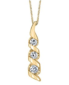 1/3 ct. t.w. Diamond Classic Three Stone Pendant in 14k Yellow Gold