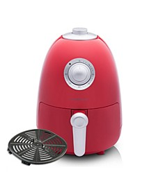 2.1Qt Compact Air Fryer with Color Recipe Book