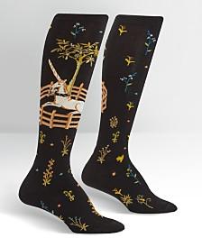 Sock it to me Knee High Unicorn in Capativity Socks