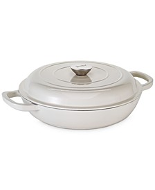 3.5-Qt. Enameled Cast Iron Braiser with Lid, Created For Macy's