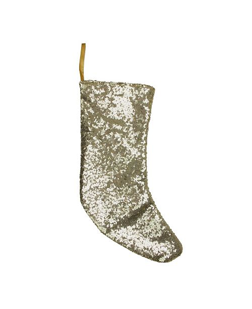 "Northlight 17.5"" Shiny Gold Sequins Christmas Stocking"
