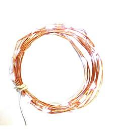 Set of 30 LED Orange Battery Operated Christmas Fairy Lights - Orange Wire