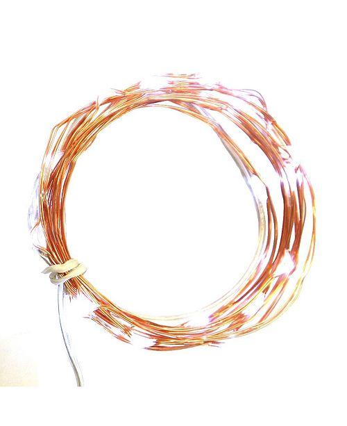 Northlight Set of 30 LED Orange Battery Operated Christmas Fairy Lights - Orange Wire