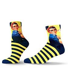 Unisex Americana Rosie the Riveter Quarter Socks