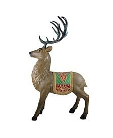 Commercial Grade Standing Reindeer Fiberglass Christmas Outdoor Decoration