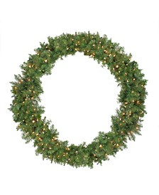 Pre-Lit Northern Pine Artificial Christmas Wreath - 48-Inch Clear Lights