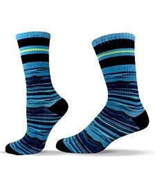 Unisex Patterned Striped Crew Socks