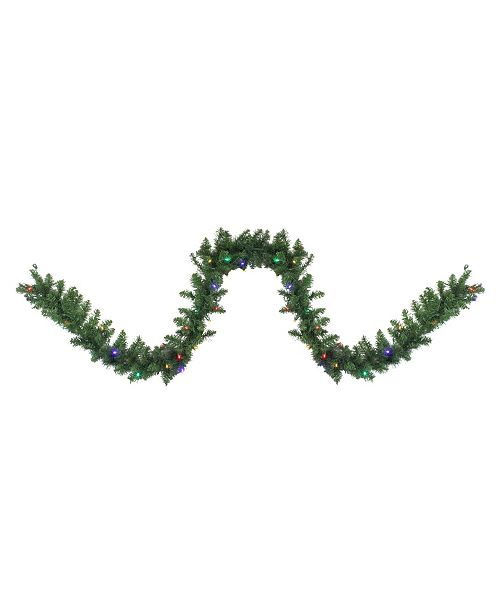 Northlight 9' x Pre-Lit Northern Pine Artificial Christmas Garland - Multi-Color Led Lights